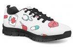 POLERO-Nurse-Bear-Zapatillas-de-enfermeria-para-Mujer-para-Correr-Caminar-Cordones-Zapatillas-Zapatillas-de-Deporte-con-Dibujos-Animados-36-41-EU-Color-Talla-35-EU-0-0