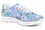 POLERO-Nurse-Bear-Zapatillas-de-enfermeria-para-Mujer-para-Correr-Caminar-Cordones-Zapatillas-Zapatillas-de-Deporte-con-Dibujos-Animados-36-41-EU-Color-Talla-35-EU-0-19