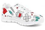 POLERO-Nurse-Bear-Zapatillas-de-enfermeria-para-Mujer-para-Correr-Caminar-Cordones-Zapatillas-Zapatillas-de-Deporte-con-Dibujos-Animados-36-41-EU-Color-Talla-35-EU-0-25