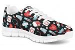 POLERO-Sneaker-Zapatillas-de-Deporte-Nurse-Bear-Electrocardiograma-para-Dama-Mujer-con-Cordones-36-Talla-Europea-0-0