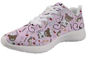 Showudesigns Bear Nurse Pink - Zapatilla de enfermera