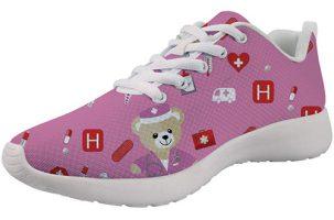 Showudesigns Bear Pink - Zapatilla de enfermera