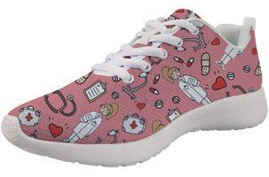 Showudesigns Nurse Design Pink - Zapatilla de enfermera