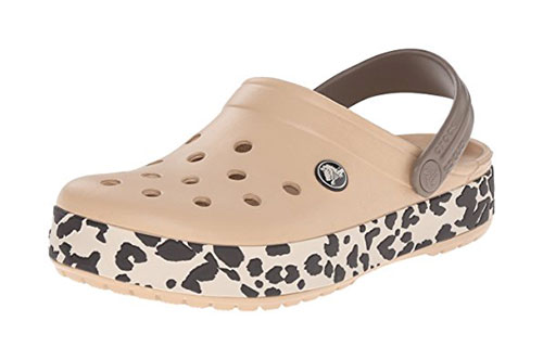 Zueco estampado Crocs Crocband Leopard