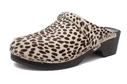 Zueco estampado Gunnels Falun Leopardo