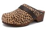 Zueco estampado Gunnels Falun Leopardo Marrón/Negro - Zueco estampado