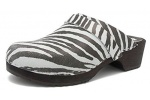 Zueco de piel Gunnels Helsingborg Zebra - Zueco de piel