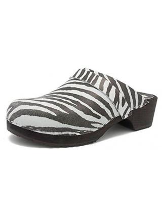 Gunnels Helsingborg Zebra - Zueco de piel