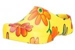 Zueco de mujer Birki's Super Birki Yellow Flower - Zueco de mujer
