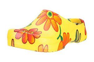 Zueco de mujer Birki's Super Birki Yellow Flower