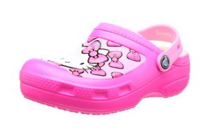 Zueco Niña Crocs Hello Kitty Bow